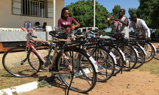 bicycle handover west nyle arua