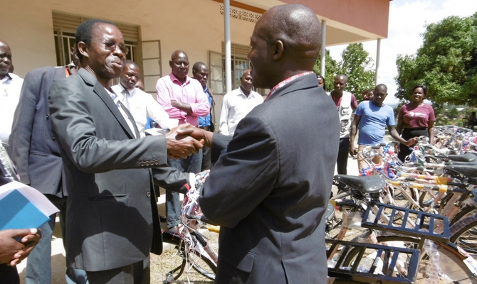 Peter lochoro of doctors with africa cuamm during the handover